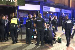 mass brawl involving 30 to 50 people at leicester market sees police officer assaulted
