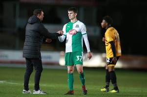 derek adams defends his 11 plymouth argyle changes for checkatrade trophy tie