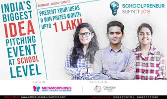 oakridge international school has partnered with metamorphosis to hunt for the next big idea