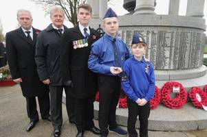 coatbridge war hero honoured by family at remembrance service