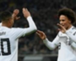 low praises 'beautiful goals' from sane and gnabry