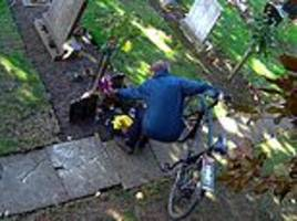 Shameless thief caught stealing flowers from a family grave in Hull