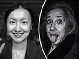 Strokes of genius: Chinese blogger transforms herself into Einstein with incredible makeup skills