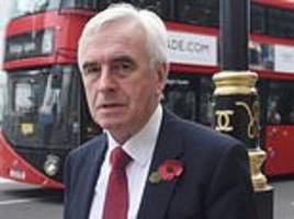 john mcdonnell labour could get a 'unity brexit' agreed by mps