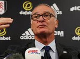 claudio ranieri plans mcdonald's for fulham if defence improves