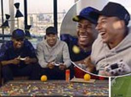 Man United's Lingard and Rashford get covered in confetti as they play Dapaah and Stormzy on FIFA 19