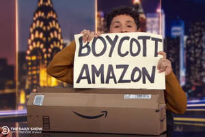 the daily show urges protest of amazon's 'cliched' move to new york city (video)