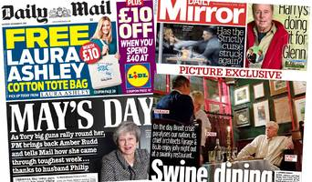 the papers: 'may calls in cavalry' and cabinet ultimatum