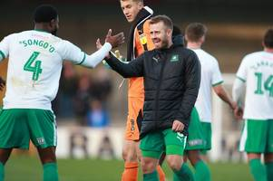 why plymouth argyle owe derek adams a good performance against luton town