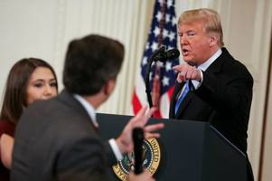 donald trump ordered to return cnn reporter's pass after press conference bust up