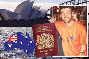 joiner's move to oz in danger after losing passport on boozy going away party