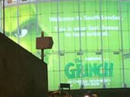 giant 50ft tall advert for new grinch movie at waterloo imax is branded 'classist' and 'racist'