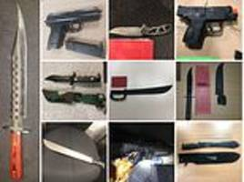 how all these knives and guns were seized by stop and search police in london this week