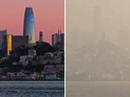 San Francisco chokes under toxic fire smoke as schools and businesses close due to air pollution