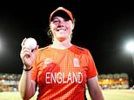 Anya Shrubsole's hat-trick helped England beat South Africa