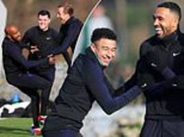 England fine-tune tactics in training ahead of winner-takes-all Nations League clash with Croatia