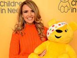 nadine coyle nails winter chic in a cosy orange jumper for bbc's children in need