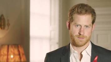 prince harry: 'with testing, we can end hiv'