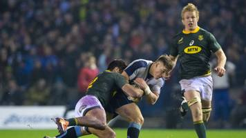 scotland 20-26 south africa: handre pollard scores 18 points as springboks hold on