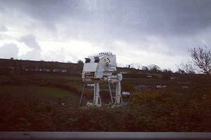 there's a star wars at-st on the a38 and no one knows why