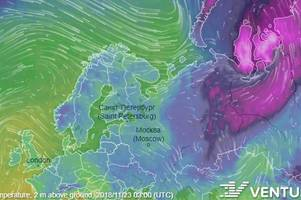 This big purple Russian weather beast will send temperatures in Gloucestershire into freefall