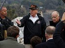 trump heads to malibu to survey wildfire destruction to celebrity haven after visiting paradise