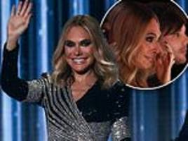 x factor: ayda field exudes glamour in art-deco sequinned gown