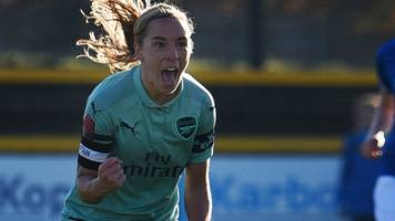 everton ladies 0-4 arsenal women: leaders maintain 100% wsl record with win