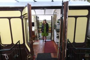 meet the cornish family steaming ahead with holidays in railway carriages