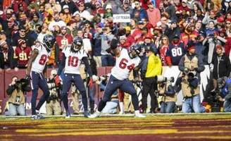 texans lead redskins, 17-7, in the third quarter