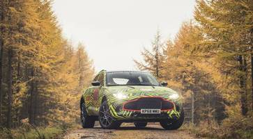 dbx: aston martin reveals first glimpse of first suv - and it's begun real-world testing already