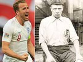 Harry Kane has racked up 20 goals for England in 35 games... but it's nothing on Steve Bloomer