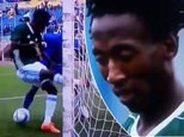 lesotho player produces two unbelievable howlers against tanzania