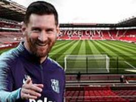 lionel messi brilliantly responds to claims he wouldn't shine on a cold night in stoke