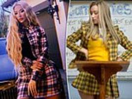 Rapper Iggy Azalea channels her inner Cher in an outfit inspired by the 1995 film