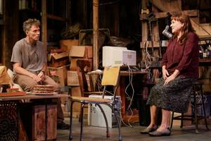 'downstairs' theater review: tyne daly and tim daly play siblings plagued with demons past and present