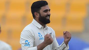 Pakistan v New Zealand: Ajaz Patel takes five wickets as tourists win first Test by four runs