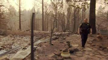 california wildfire destroys police officer's home