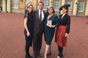 charity worker with stewartry connections receives obe at buckingham palace