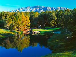 spectacular stage set for the match: tiger woods vs. phil mickelson at shadow creek