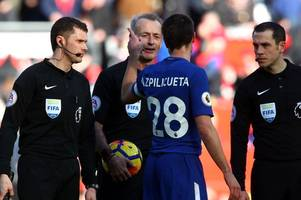 referee announced for spurs vs chelsea - and it's good news for blues fans