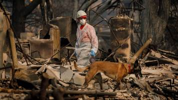 california wildfires: concern over rain in search efforts