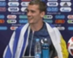Griezmann unveils France-Uruguay 'mate' boots for rerun of World Cup quarter