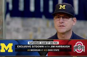EXCLUSIVE: Jim Harbaugh discusses the state of his team ahead of Michigan vs. Ohio State