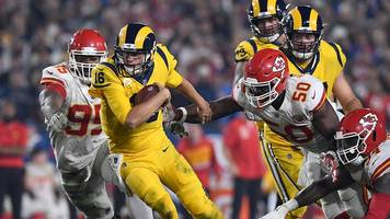 nfl: every touchdown as los angeles rams beat kansas city chiefs