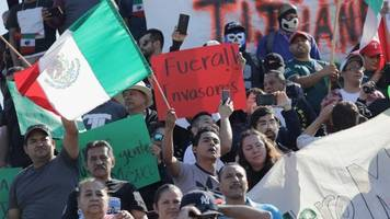Residents Protest Arrival Of Migrants In Tijuana, Mexico