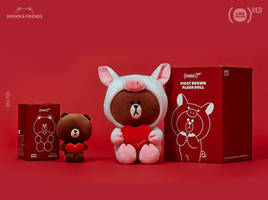 line friends teams up with amazon's (shopathon)red campaign to fight aids