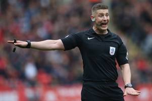 this man will referee aston villa vs birmingham city - and it's a very interesting appointment