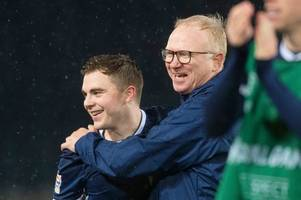 alex mcleish labels james forrest 'amazing' as he becomes first celtic player to net treble for scotland in 110 years