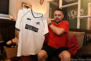 the man who ended up with a swansea city cult hero's shirt at a legendary game wants to give it back